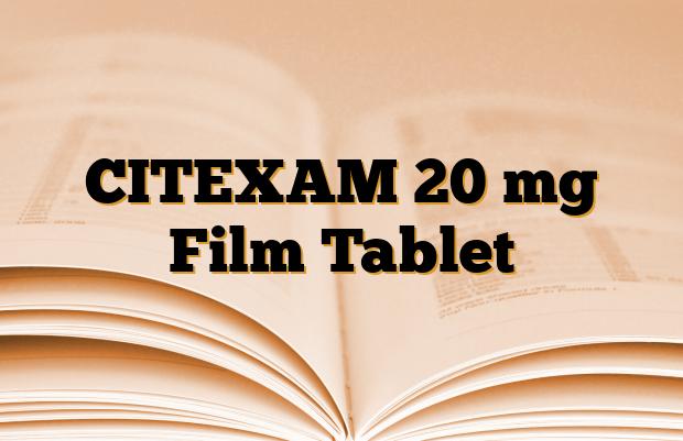 CITEXAM 20 mg Film Tablet
