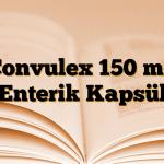 Convulex 150 mg Enterik Kapsül