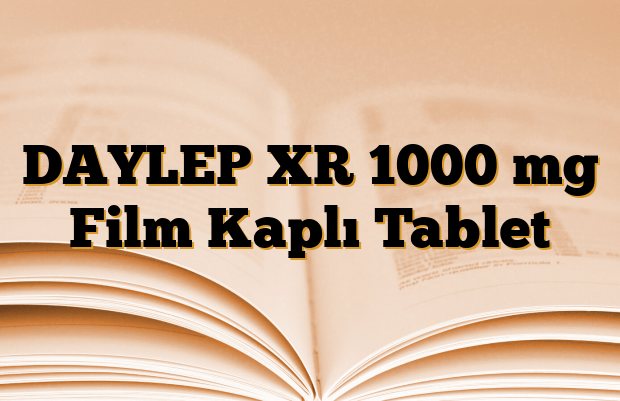 DAYLEP XR 1000 mg Film Kaplı Tablet