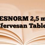 DESNORM 2,5 mg Efervesan Tablet