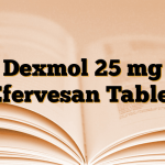 Dexmol 25 mg Efervesan Tablet