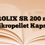 FROLIX SR 200 mg Mikropellet Kapsül