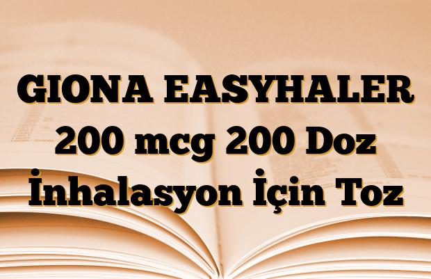 GIONA EASYHALER 200 mcg 200 Doz İnhalasyon İçin Toz