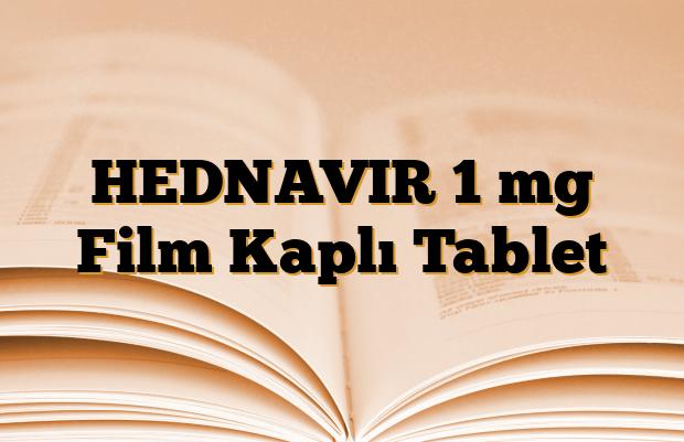 HEDNAVIR 1 mg Film Kaplı Tablet