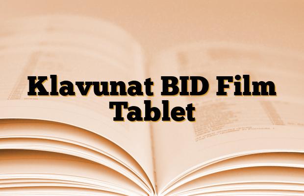 Klavunat BID Film Tablet