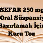 LOSEFAR 250 mg/5 ml Oral Süspansiyon Hazırlamak İçin Kuru Toz