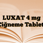 LUXAT 4 mg Çiğneme Tableti