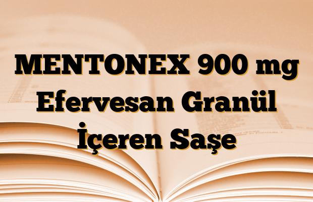 MENTONEX 900 mg Efervesan Granül İçeren Saşe