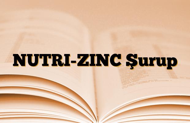 NUTRI-ZINC Şurup