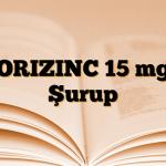 ORIZINC 15 mg Şurup
