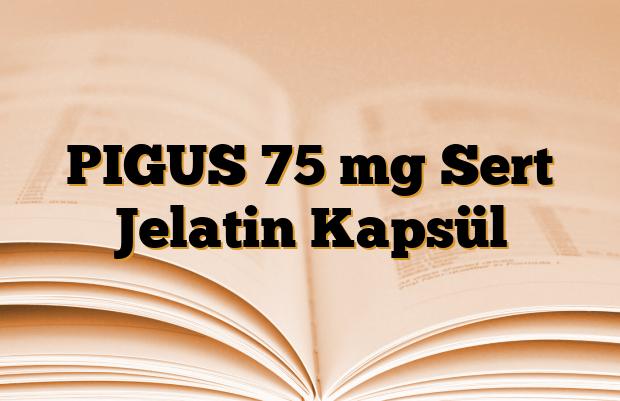 PIGUS 75 mg Sert Jelatin Kapsül