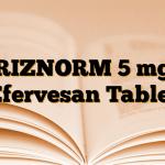 RIZNORM 5 mg Efervesan Tablet