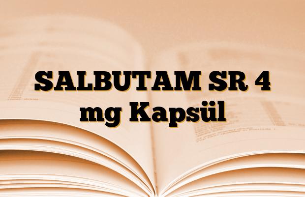 SALBUTAM SR 4 mg Kapsül