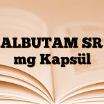SALBUTAM SR 8 mg Kapsül