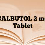SALBUTOL 2 mg Tablet