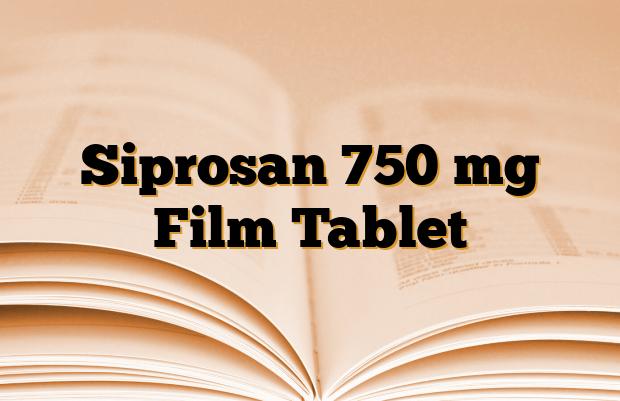 Siprosan 750 mg Film Tablet