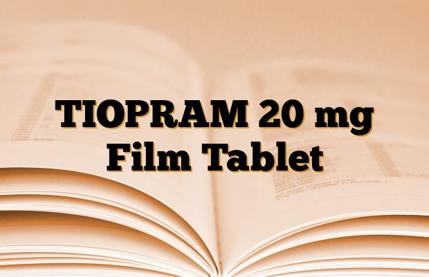 TIOPRAM 20 mg Film Tablet