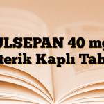 ULSEPAN 40 mg Enterik Kaplı Tablet