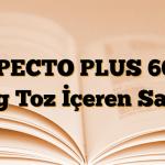 XPECTO PLUS 600 mg Toz İçeren Saşe