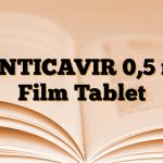 ZENTICAVIR 0,5 mg Film Tablet