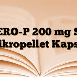 ZERO-P 200 mg SR Mikropellet Kapsül
