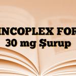 ZINCOPLEX FORT 30 mg Şurup