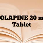 ZOLAPINE 20 mg Tablet