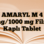 AMARYL M 4 mg/1000 mg Film Kaplı Tablet