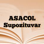 ASACOL Supozituvar
