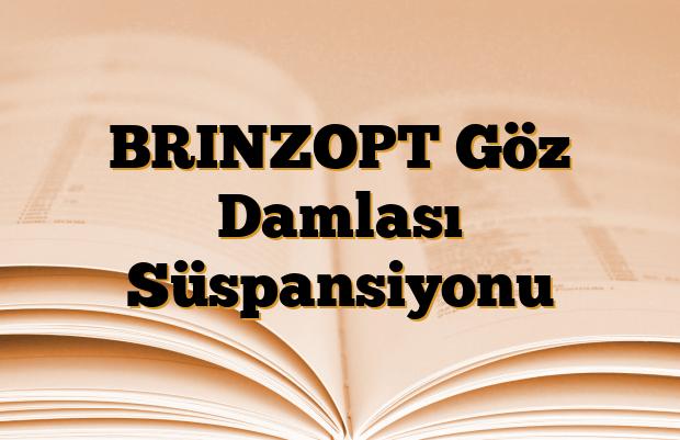 BRINZOPT Göz Damlası Süspansiyonu