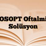COSOPT Oftalmik Solüsyon