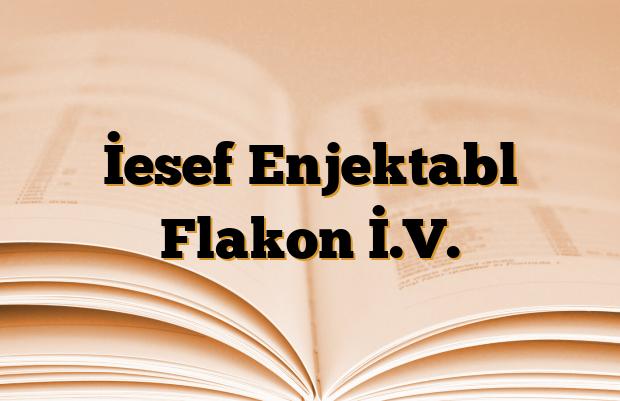İesef Enjektabl Flakon İ.V.