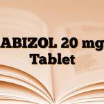 ABIZOL 20 mg Tablet