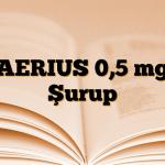 AERIUS 0,5 mg Şurup