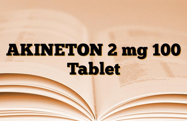 AKINETON 2 mg 100 Tablet