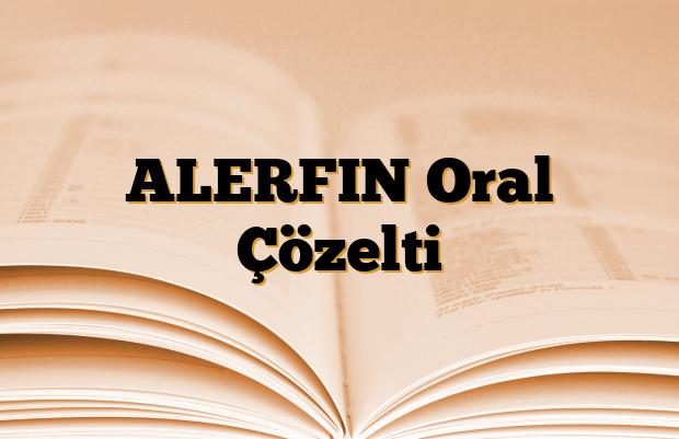 ALERFIN Oral Çözelti
