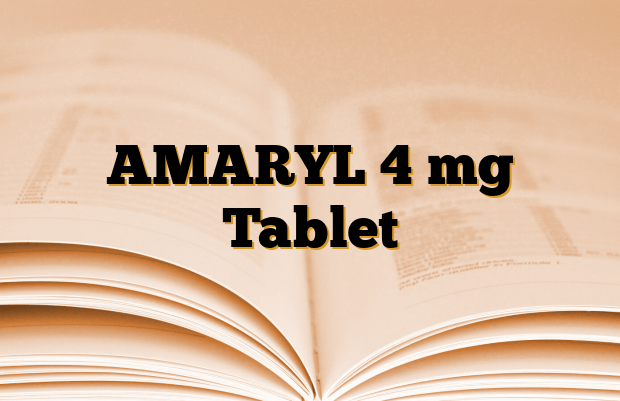 AMARYL 4 mg Tablet