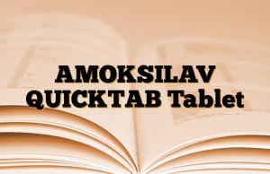 AMOKSILAV QUICKTAB Tablet