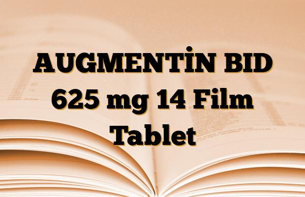AUGMENTİN BID 625 mg 14 Film Tablet