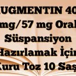 AUGMENTIN 400 mg/57 mg Oral Süspansiyon Hazırlamak İçin Kuru Toz 10 Saşe