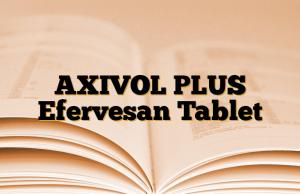 AXIVOL PLUS Efervesan Tablet