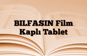 BILFASIN Film Kaplı Tablet