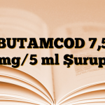 BUTAMCOD 7,5 mg/5 ml Şurup
