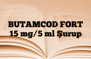 BUTAMCOD FORT 15 mg/5 ml Şurup