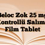 Beloc Zok 25 mg Kontrollü Salımlı Film Tablet