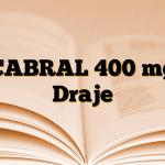 CABRAL 400 mg Draje