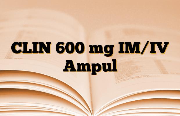 CLIN 600 mg IM/IV Ampul