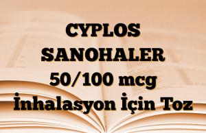 CYPLOS SANOHALER 50/100 mcg İnhalasyon İçin Toz