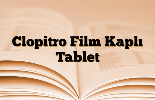 Clopitro Film Kaplı Tablet