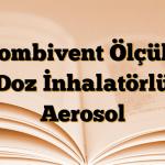 Combivent Ölçülü Doz İnhalatörlü Aerosol